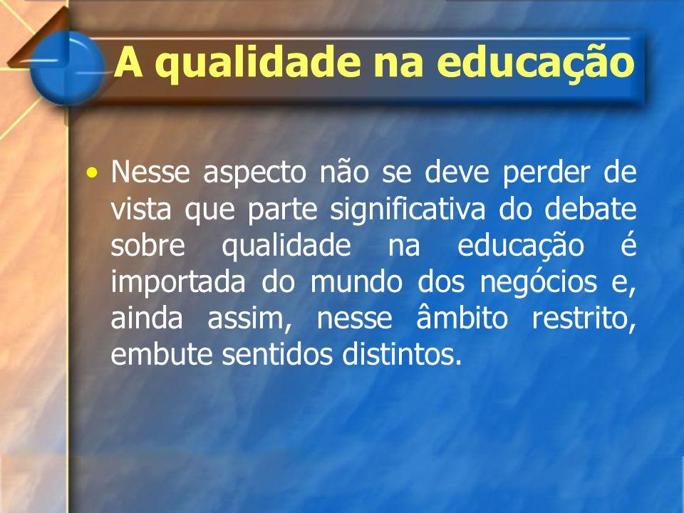 A qualidade na educação