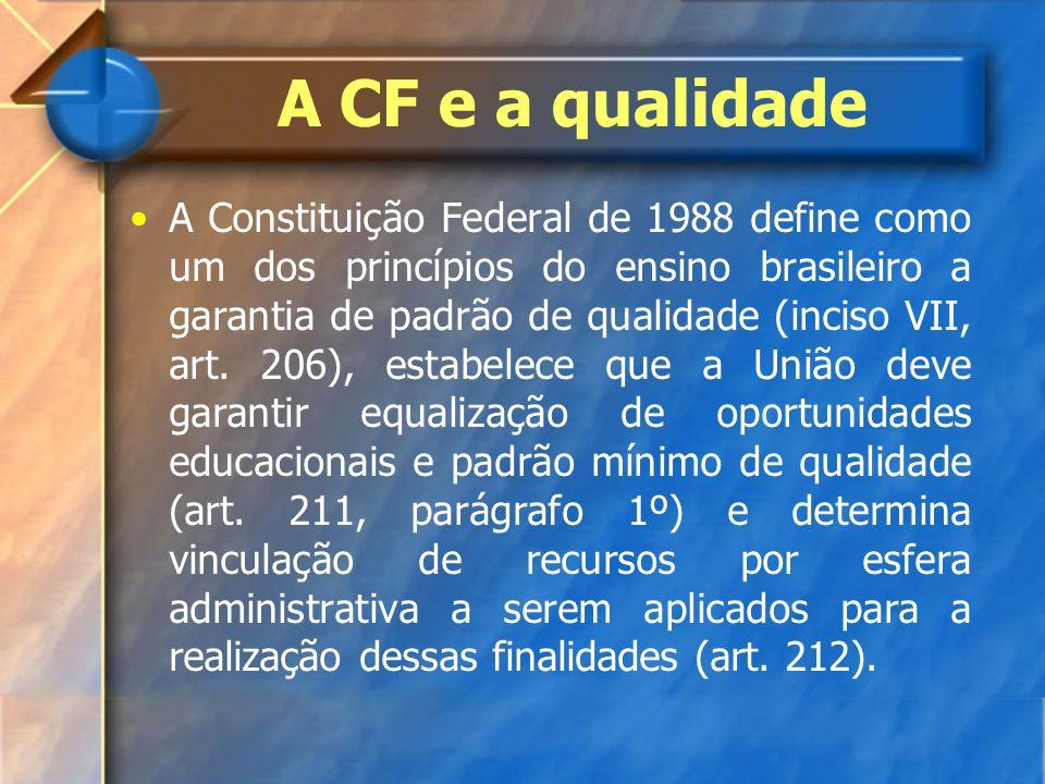 A CF e a qualidade