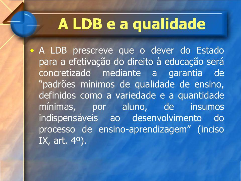 A LDB e a qualidade