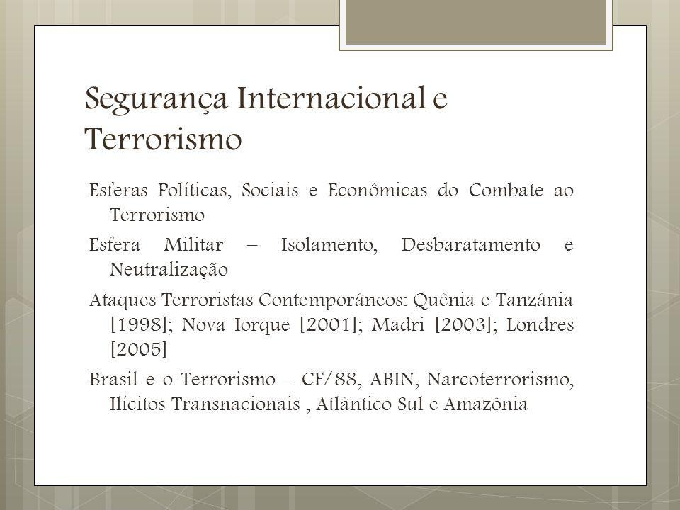 Segurança Internacional e Terrorismo