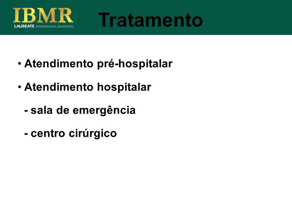 Tratamento Atendimento pré-hospitalar Atendimento hospitalar