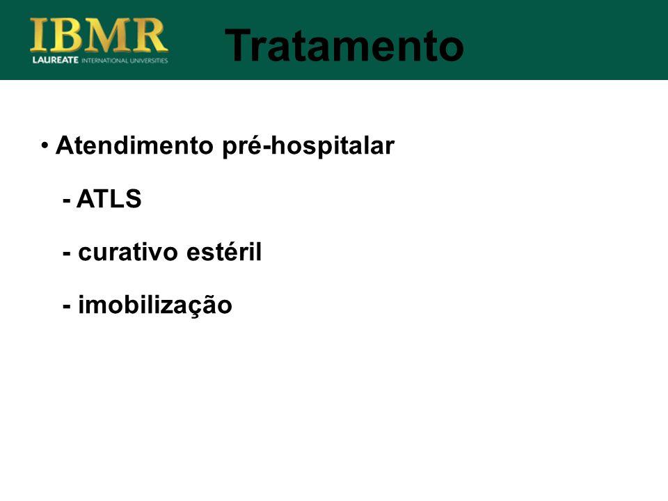 Tratamento Atendimento pré-hospitalar - ATLS - curativo estéril