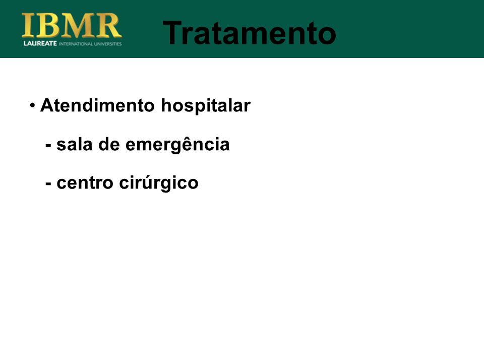 Tratamento Atendimento hospitalar - sala de emergência