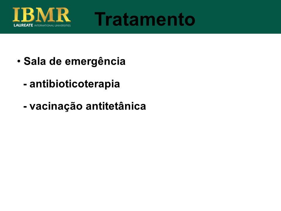 Tratamento Sala de emergência - antibioticoterapia