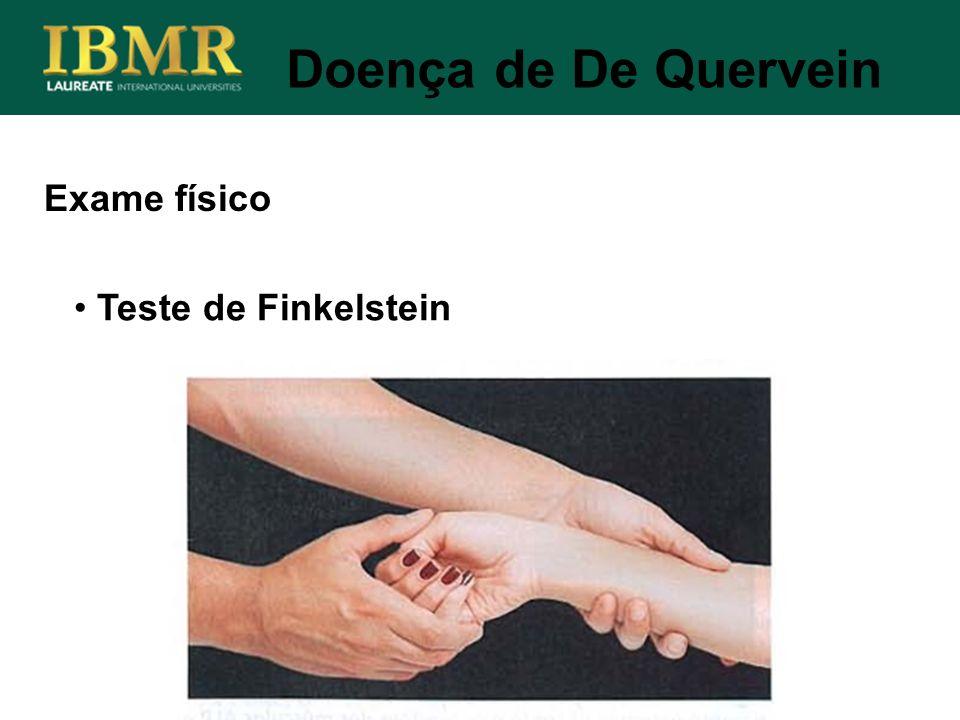 Doença de De Quervein Exame físico Teste de Finkelstein