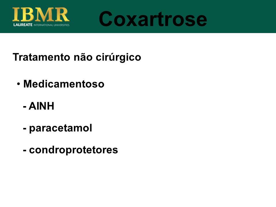 Coxartrose Tratamento não cirúrgico Medicamentoso - AINH - paracetamol