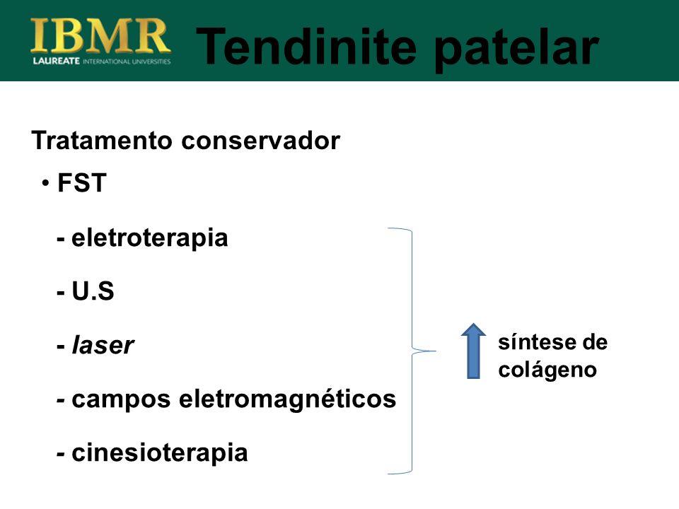 Tendinite patelar Tratamento conservador FST - eletroterapia - U.S
