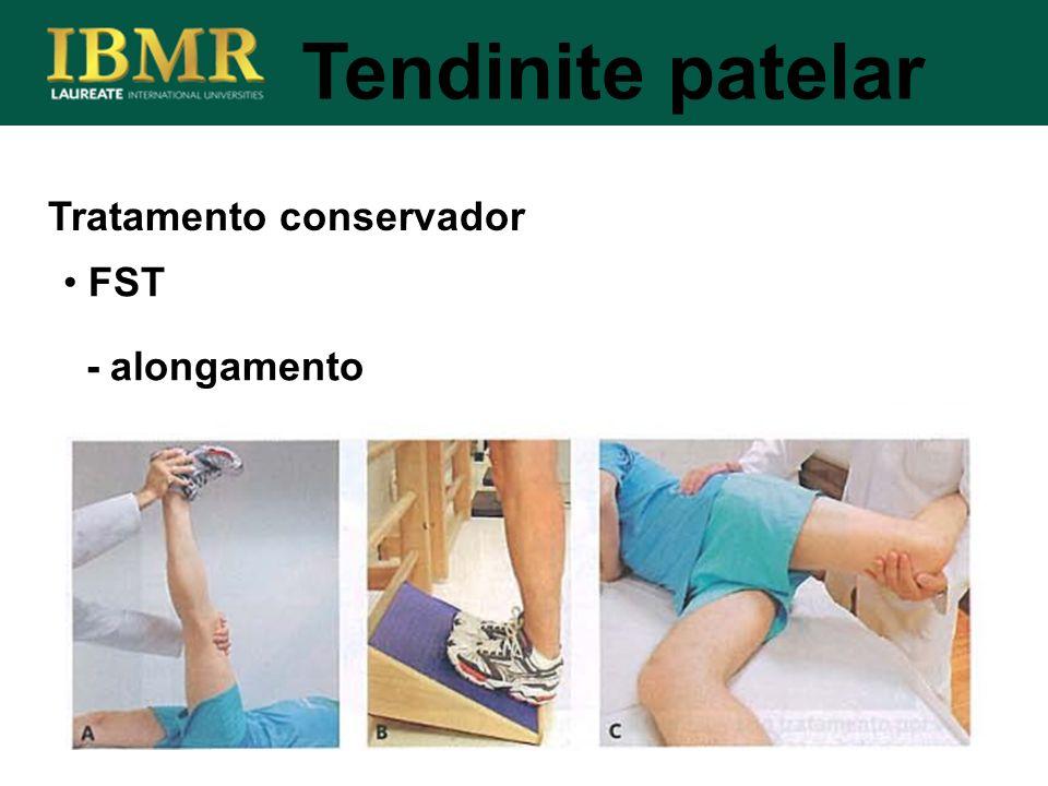 Tendinite patelar Tratamento conservador FST - alongamento