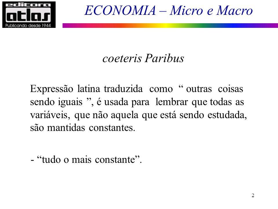 coeteris Paribus Expressão latina traduzida como outras coisas