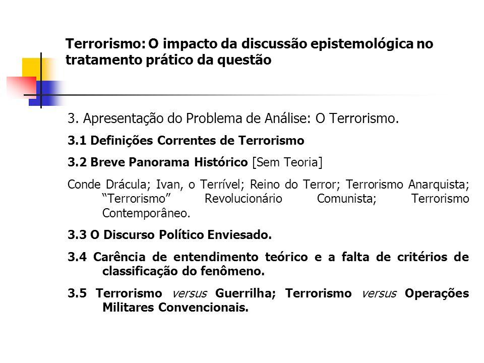 3. Apresentação do Problema de Análise: O Terrorismo.