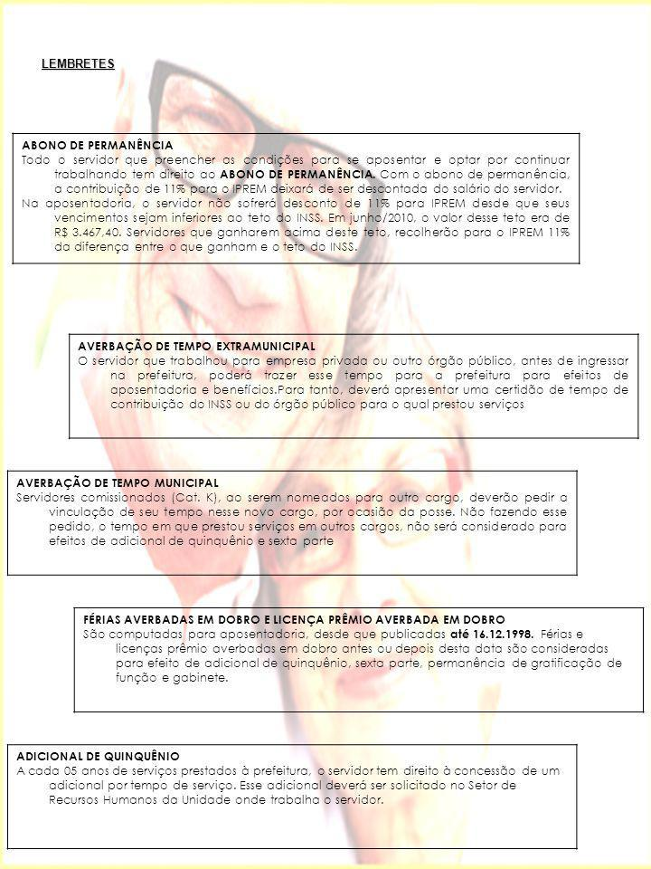 LEMBRETES ABONO DE PERMANÊNCIA.