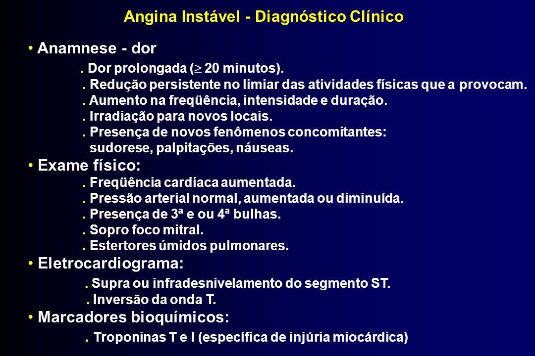 Angina Instável - Diagnóstico Clínico