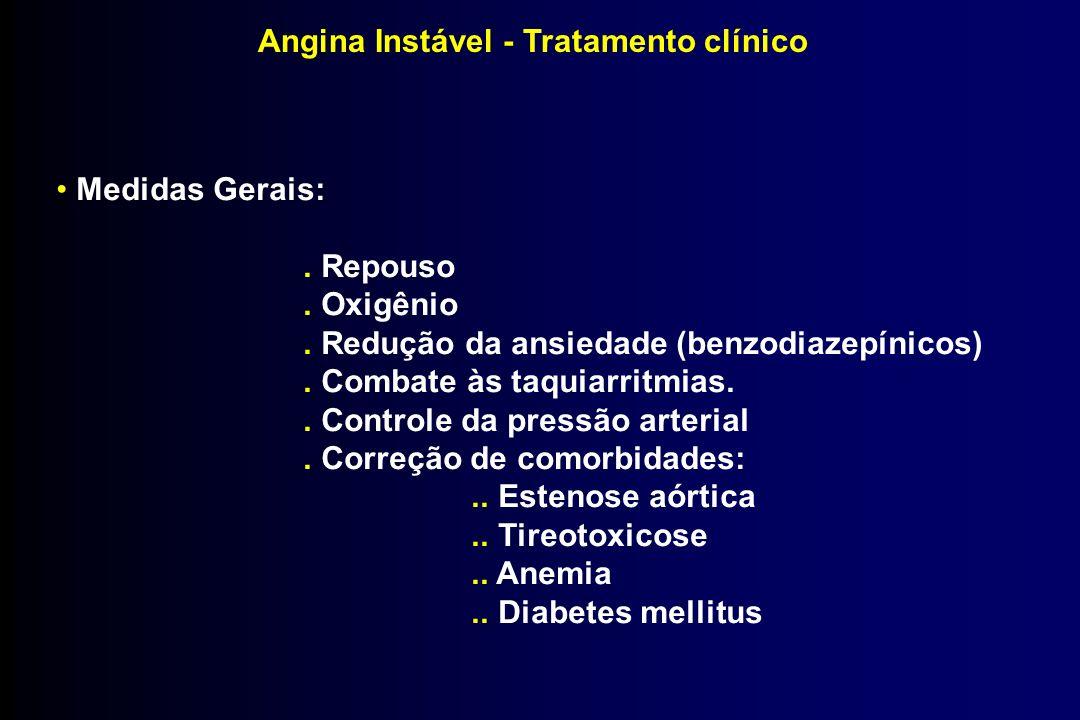 Angina Instável - Tratamento clínico