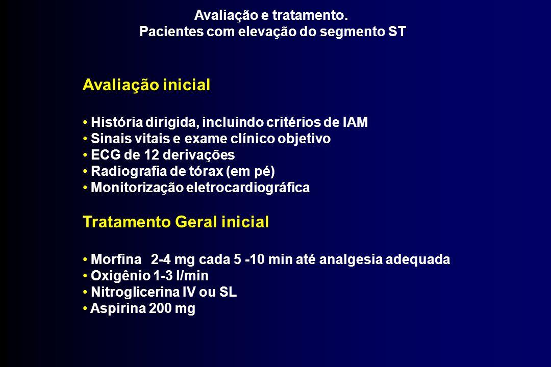Avaliação e tratamento. Pacientes com elevação do segmento ST