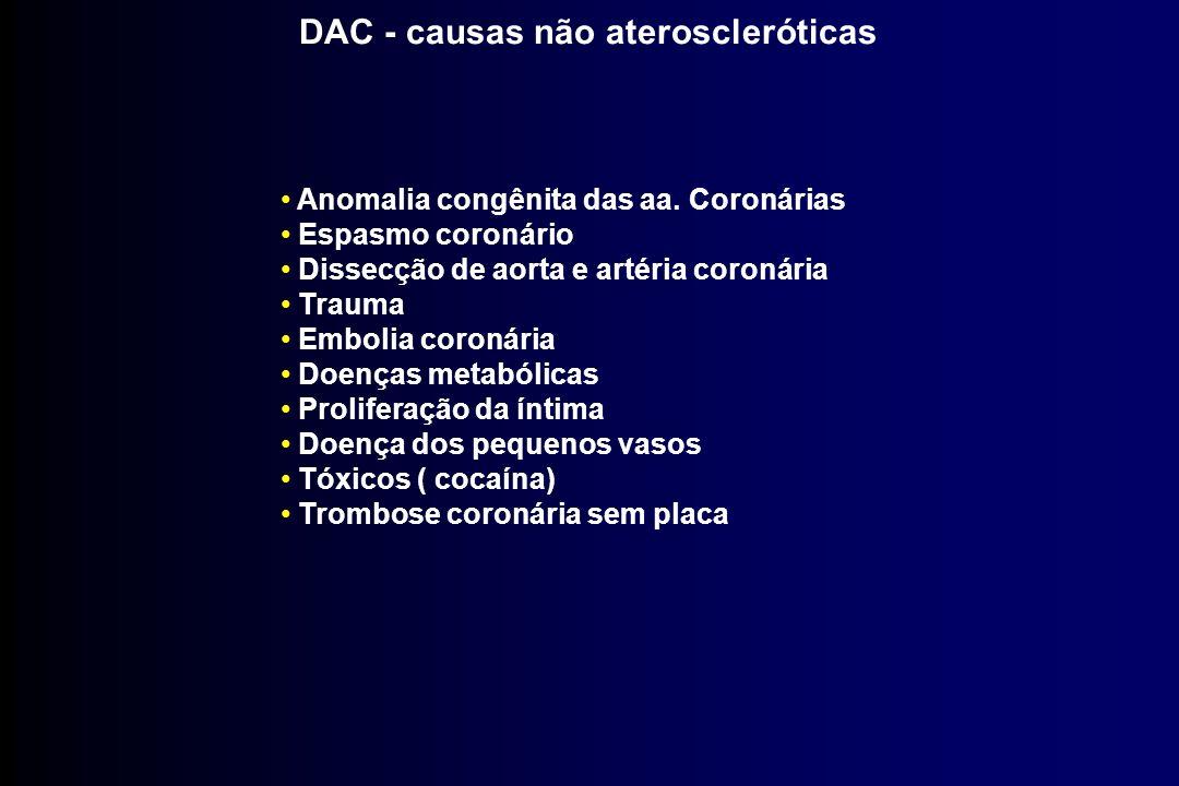 DAC - causas não ateroscleróticas