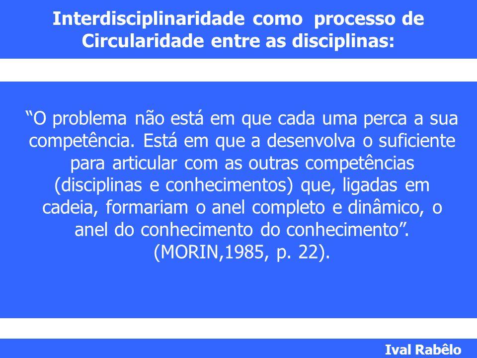 Interdisciplinaridade como processo de Circularidade entre as disciplinas: