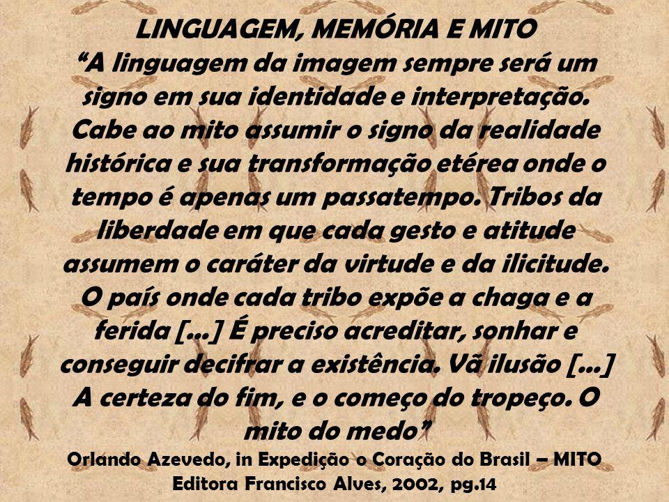 LINGUAGEM, MEMÓRIA E MITO A linguagem da imagem sempre será um signo em sua identidade e interpretação.