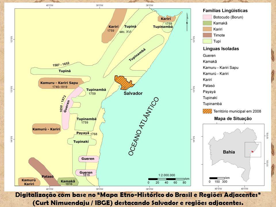 (Curt Nimuendaju / IBGE) destacando Salvador e regiões adjacentes.