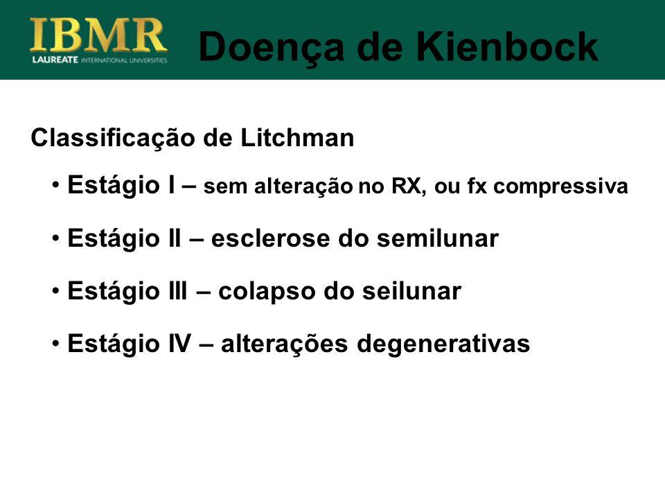 Doença de Kienbock Classificação de Litchman