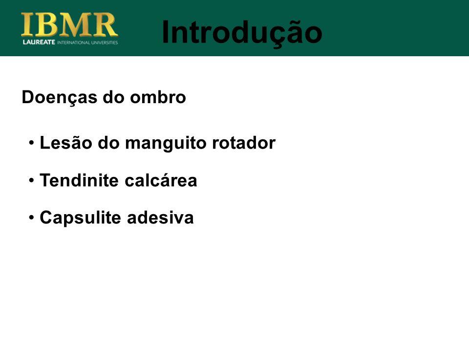 Introdução Doenças do ombro Lesão do manguito rotador