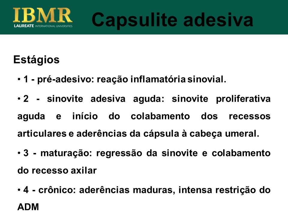 Capsulite adesiva Estágios