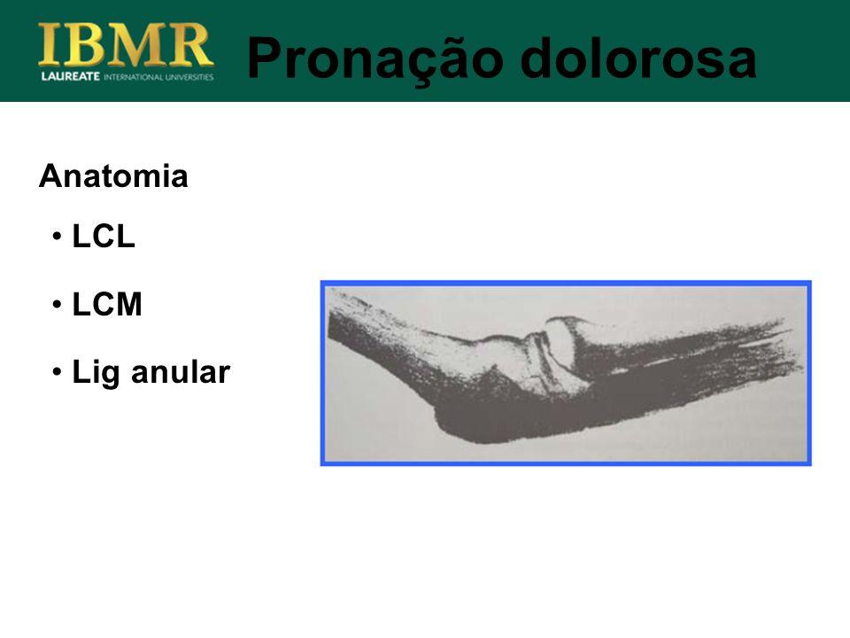 Pronação dolorosa Anatomia LCL LCM Lig anular
