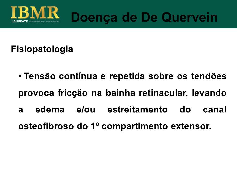 Doença de De Quervein Fisiopatologia