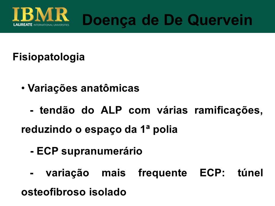 Doença de De Quervein Fisiopatologia Variações anatômicas