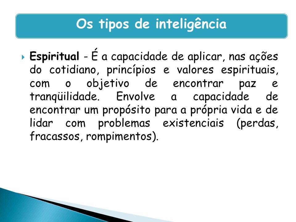 Os tipos de inteligência