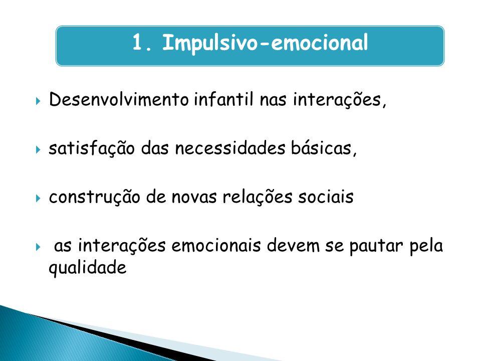 1. Impulsivo-emocional Desenvolvimento infantil nas interações,