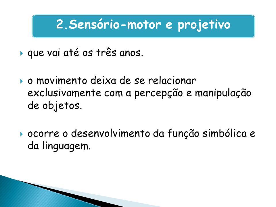 2.Sensório-motor e projetivo