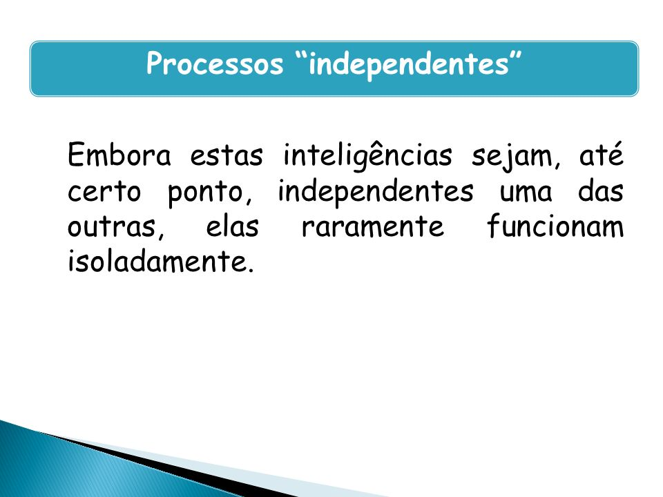 Processos independentes