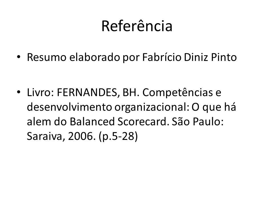 Referência Resumo elaborado por Fabrício Diniz Pinto