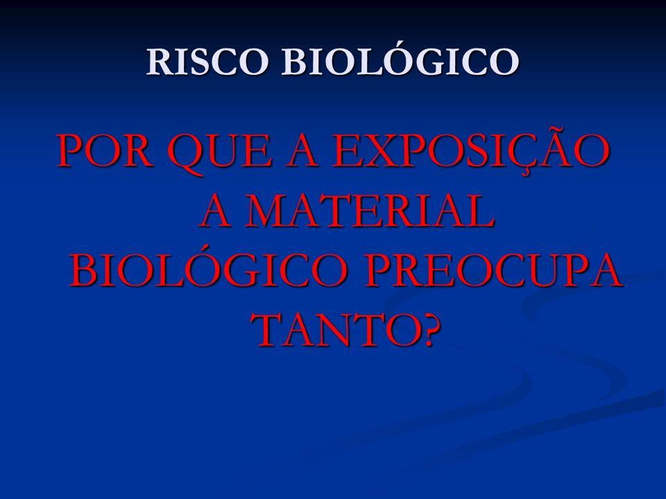 POR QUE A EXPOSIÇÃO A MATERIAL BIOLÓGICO PREOCUPA TANTO