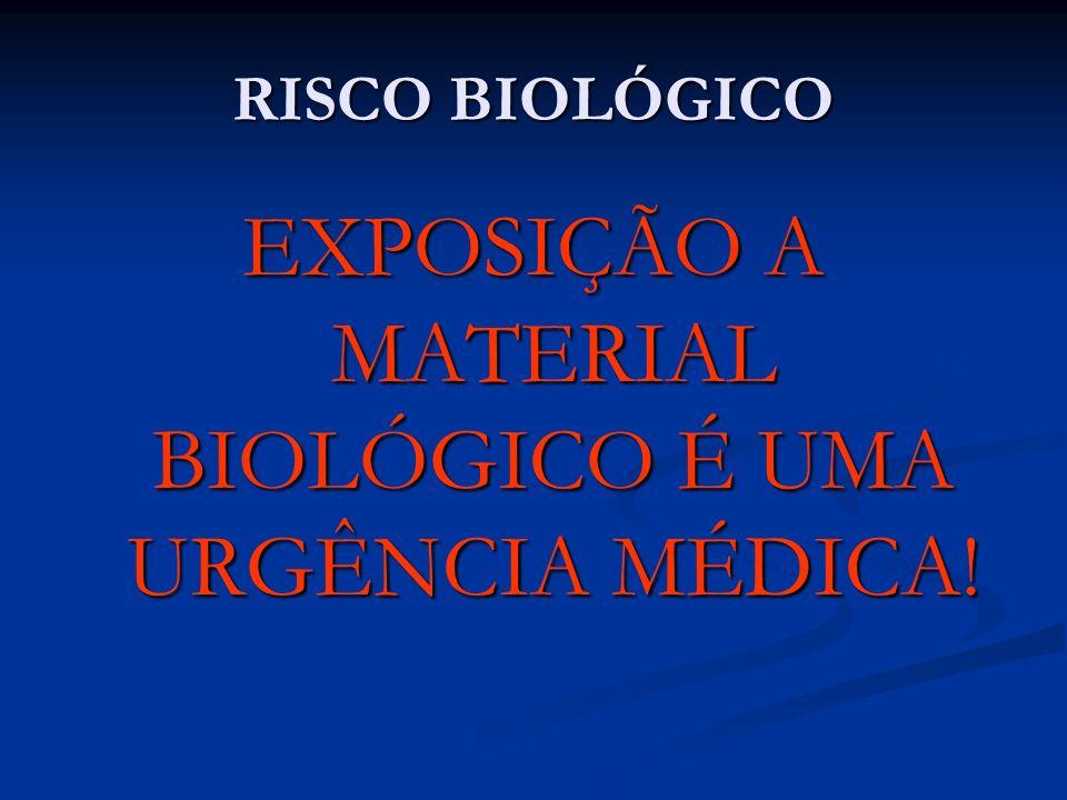 EXPOSIÇÃO A MATERIAL BIOLÓGICO É UMA URGÊNCIA MÉDICA!