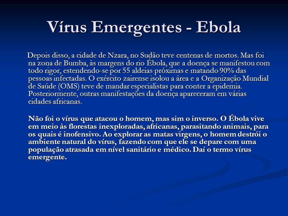 Vírus Emergentes - Ebola