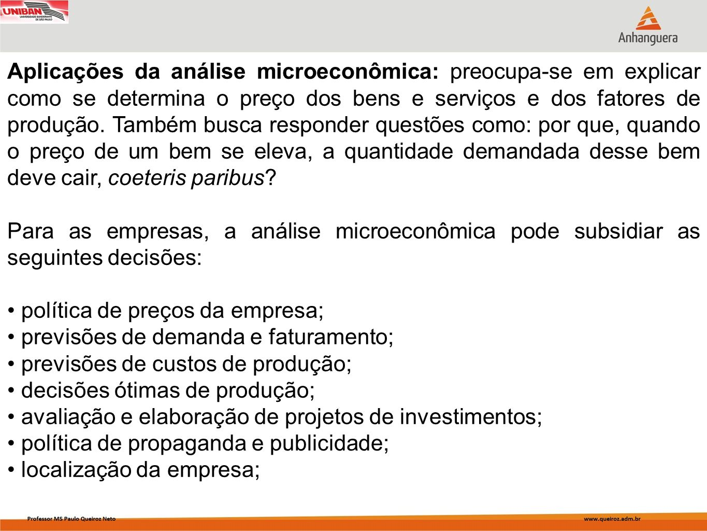 política de preços da empresa; previsões de demanda e faturamento;
