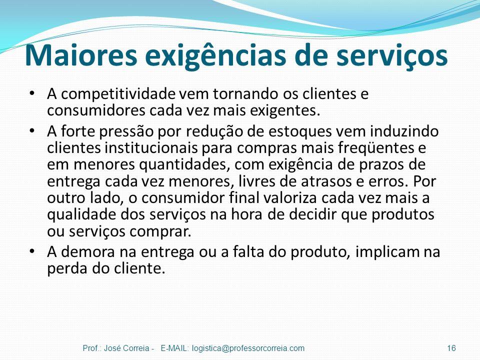 Maiores exigências de serviços