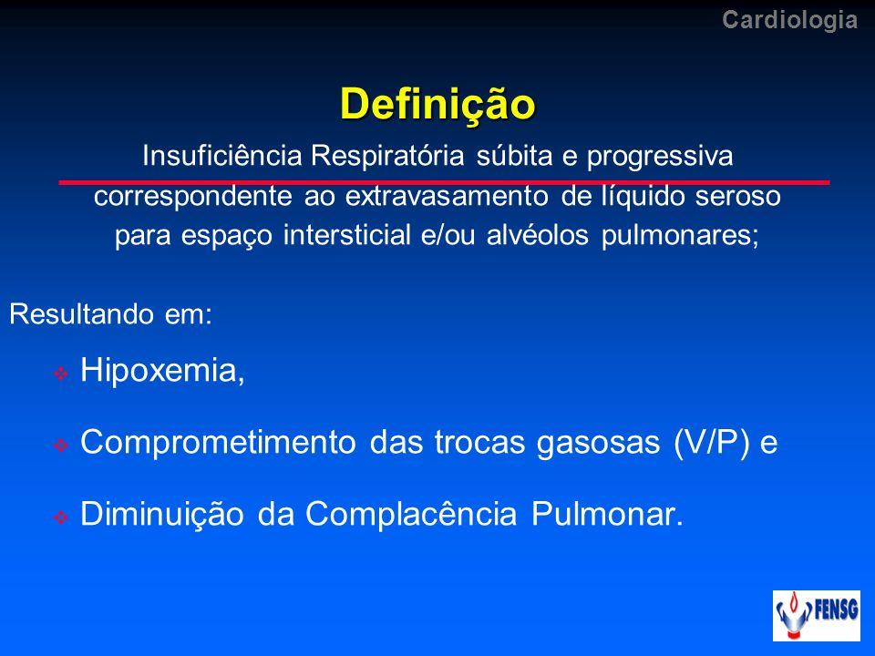 Definição Hipoxemia, Comprometimento das trocas gasosas (V/P) e