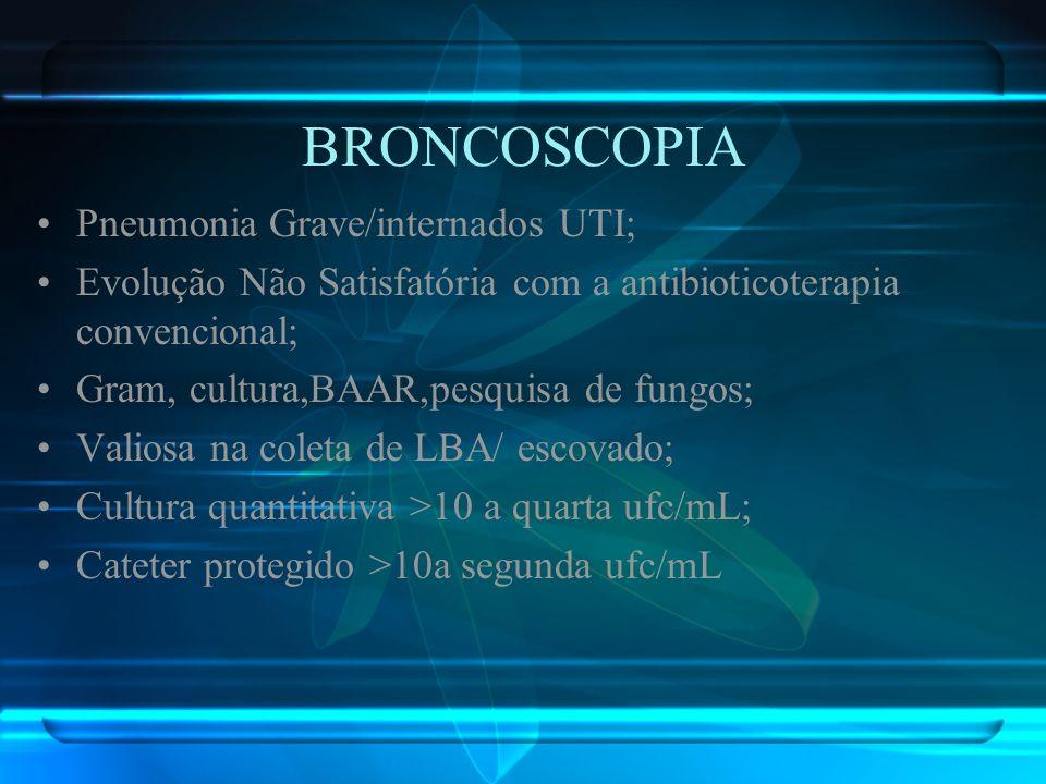BRONCOSCOPIA Pneumonia Grave/internados UTI;