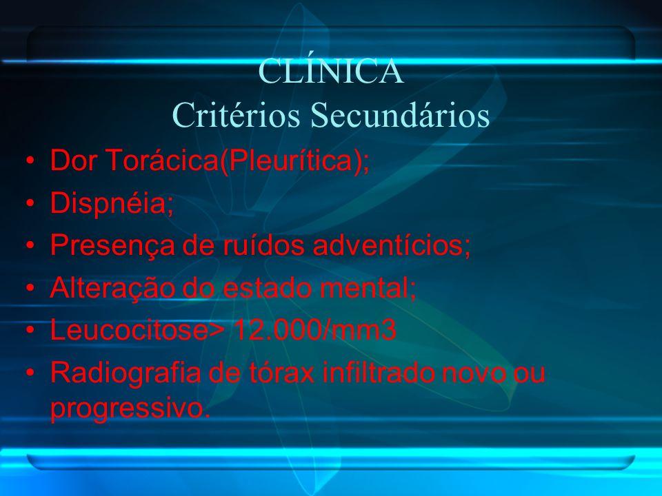 CLÍNICA Critérios Secundários
