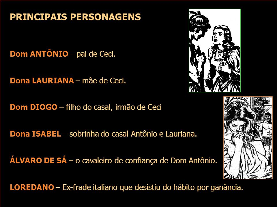 PRINCIPAIS PERSONAGENS