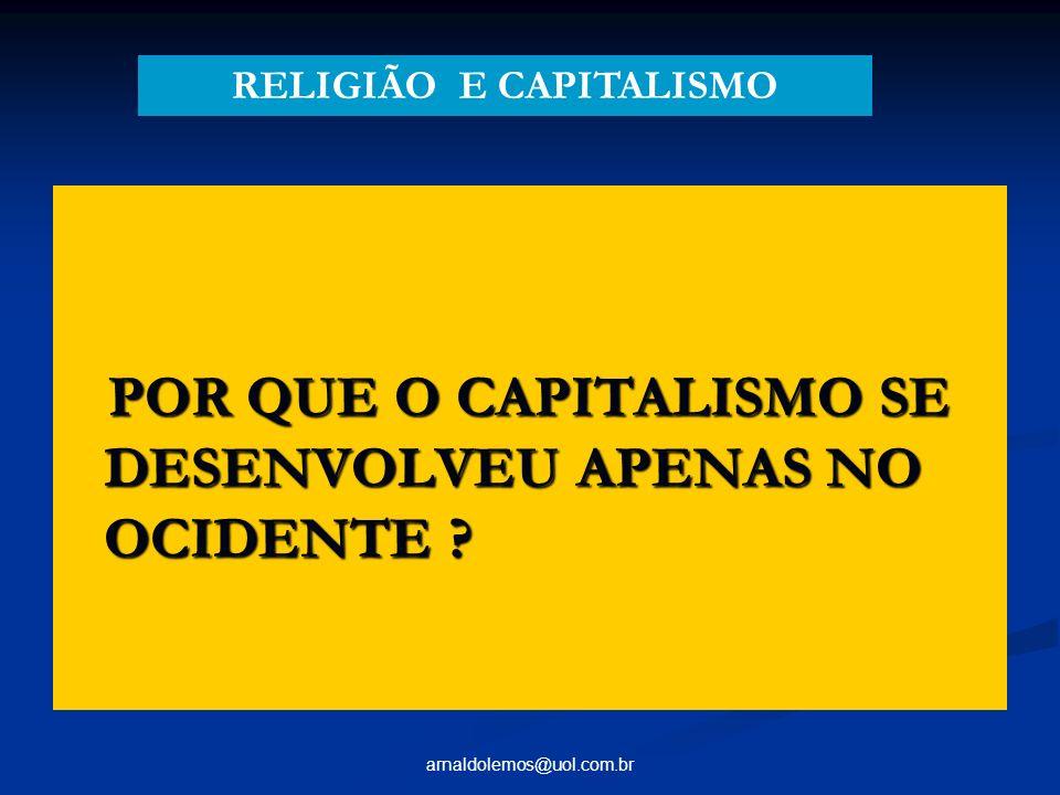 RELIGIÃO E CAPITALISMO