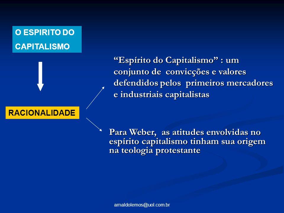 O ESPIRITO DO CAPITALISMO.