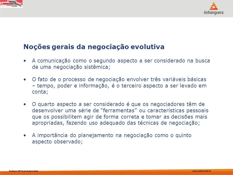 Noções gerais da negociação evolutiva