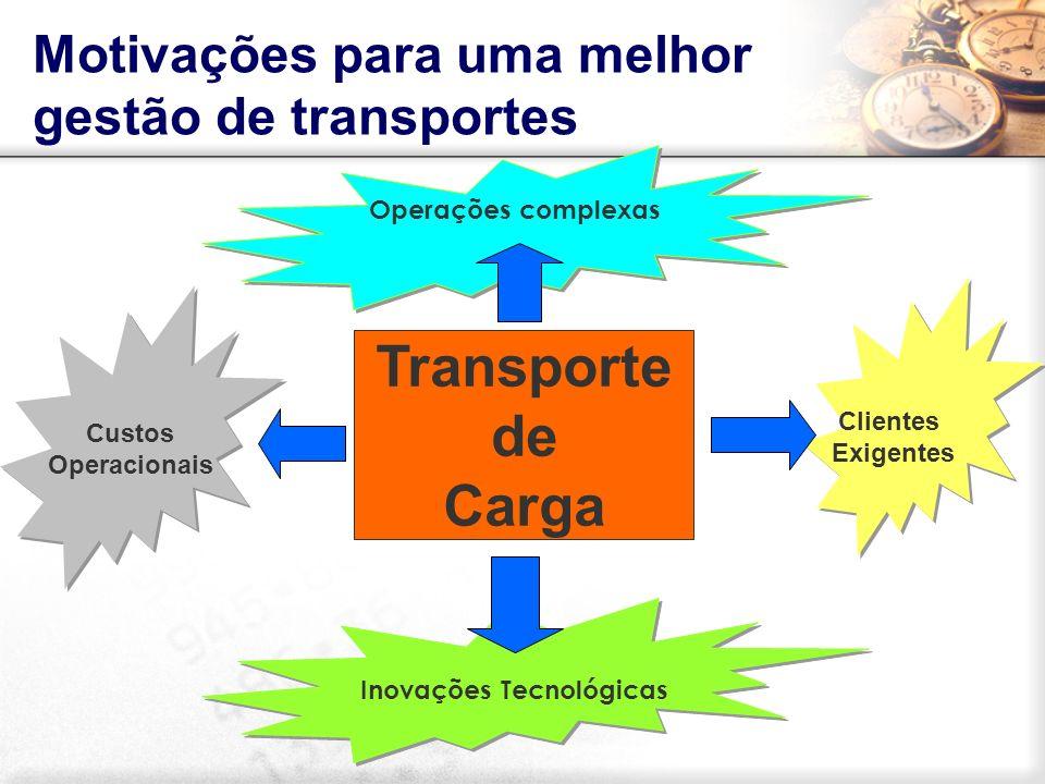 Transporte de Carga Motivações para uma melhor gestão de transportes