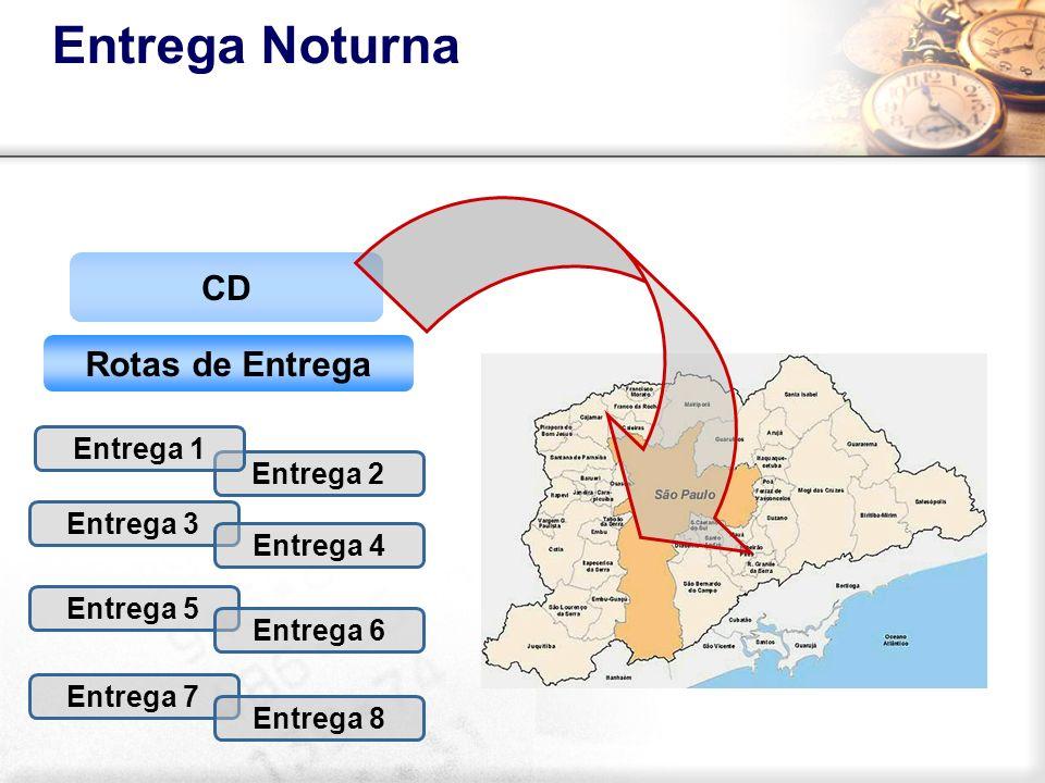 Entrega Noturna CD Rotas de Entrega Entrega 1 Entrega 2 Entrega 3