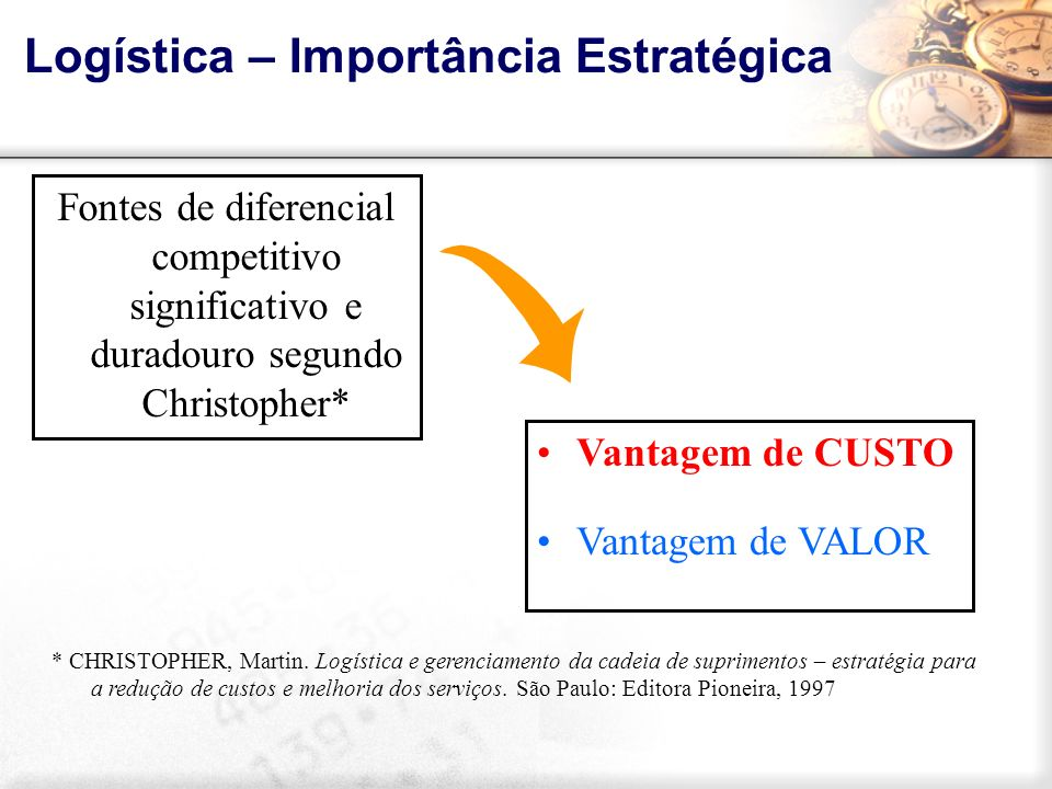 Logística – Importância Estratégica