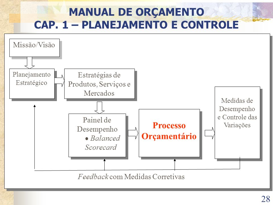 CAP. 1 – PLANEJAMENTO E CONTROLE Processo Orçamentário