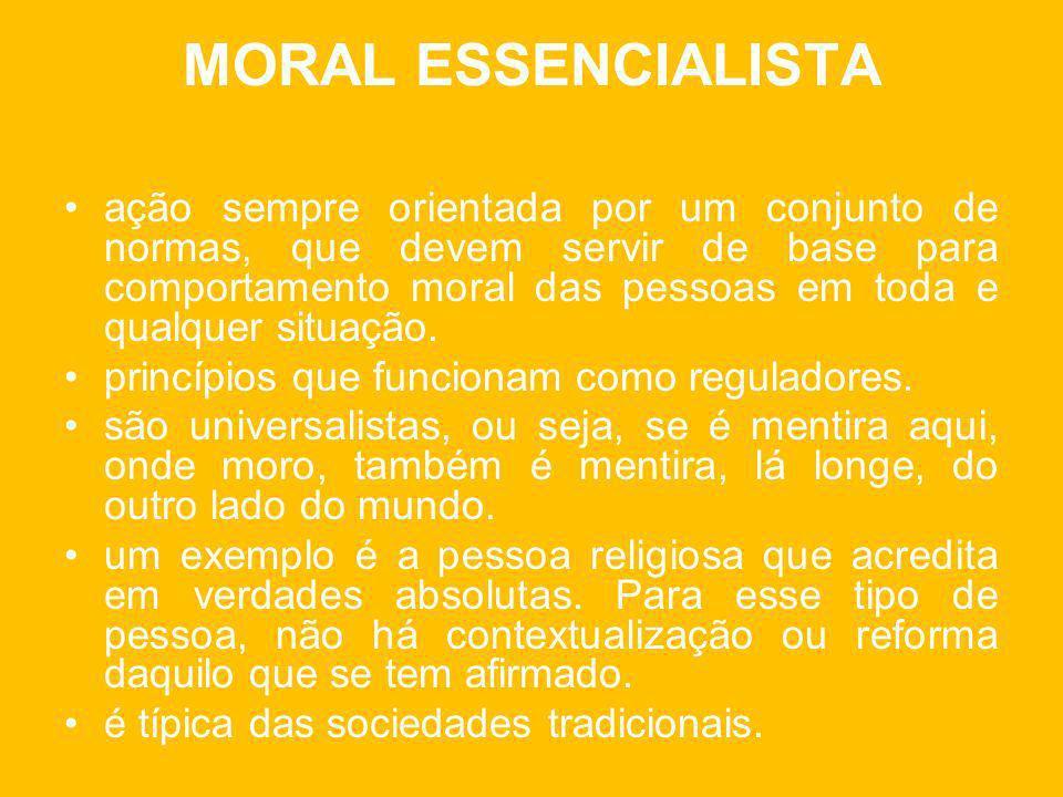 MORAL ESSENCIALISTA